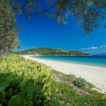 Exotic beach at Ammouliani island