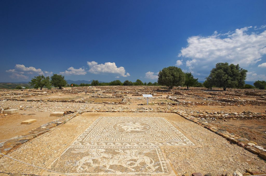 The ancient city of Olynthus