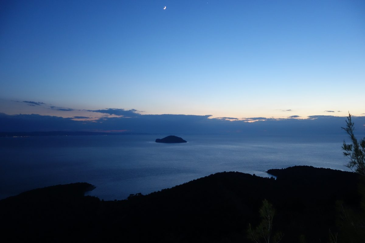 Kelifos island at dawn