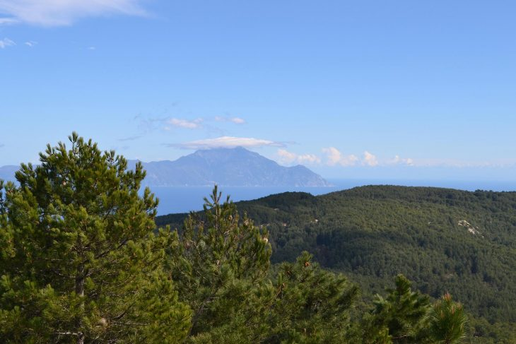 Overlooking at Mount Athos