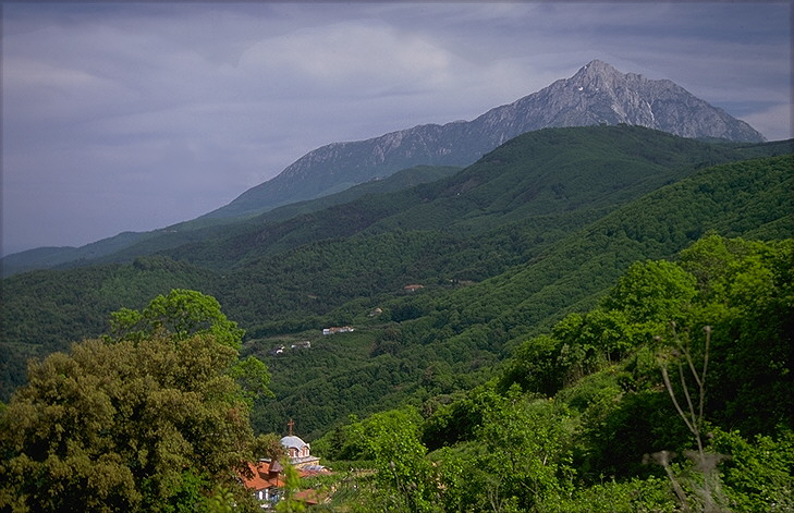View of Athos mountain