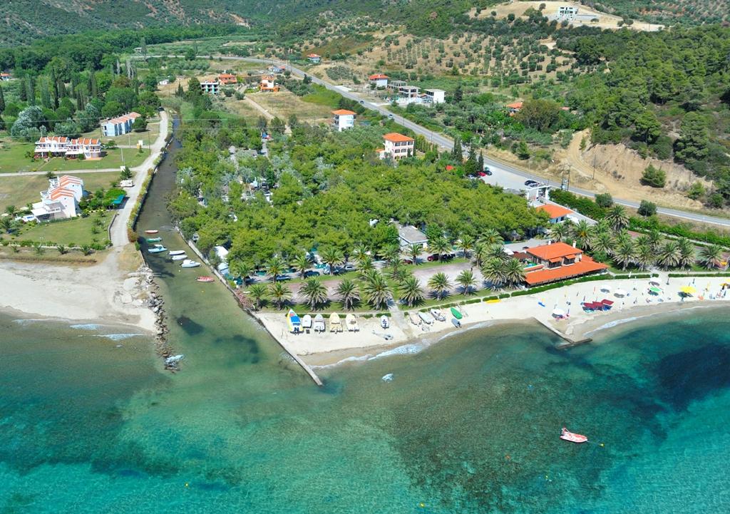 Airphoto of Tripotamos beach