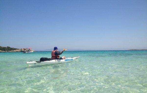 Sea kayak around Diaporos island