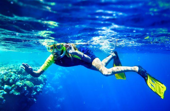 Snorkelling in Toroni