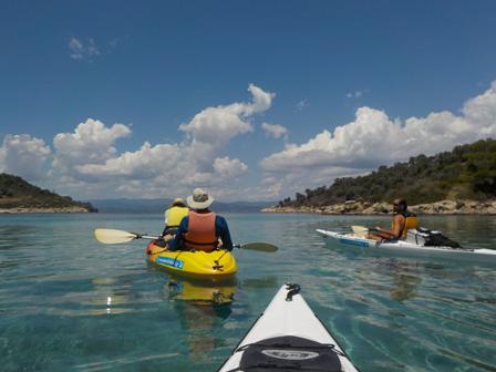 Sea kayak around Diaporos island