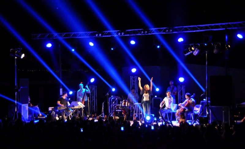 Live music concert at Festival of the Sea, Nea Moudania