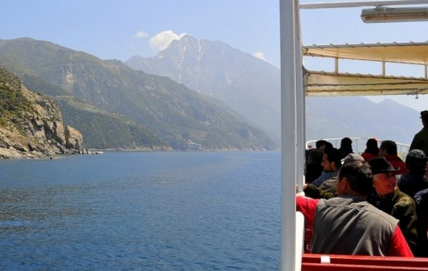 Boat tour to Mount Athos from Ormos Panagias