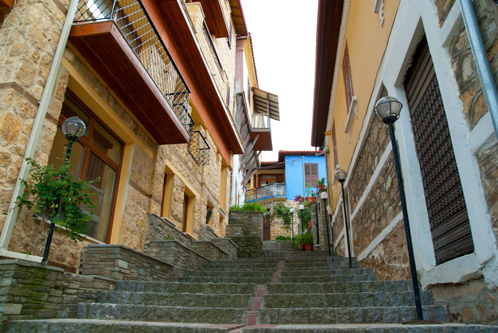 Fine examples of traditional architecture at Arnea village