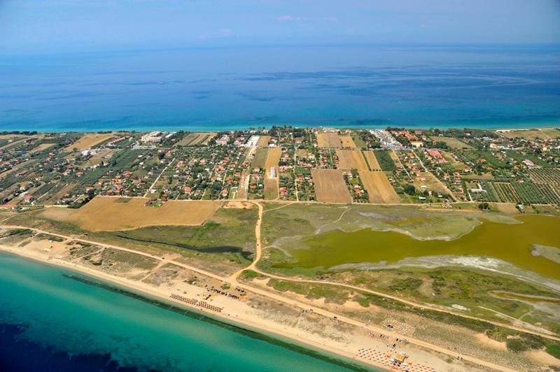Airphoto of Agios Mamas wetland