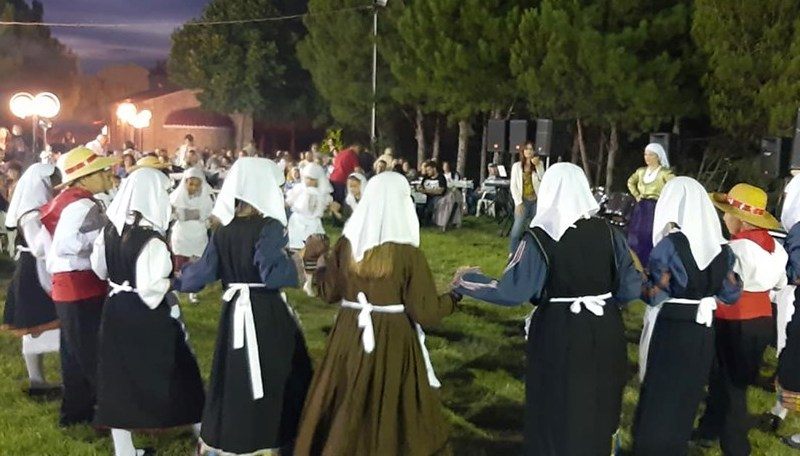 Local feast at Prophet Elias chapple with traditional dancing