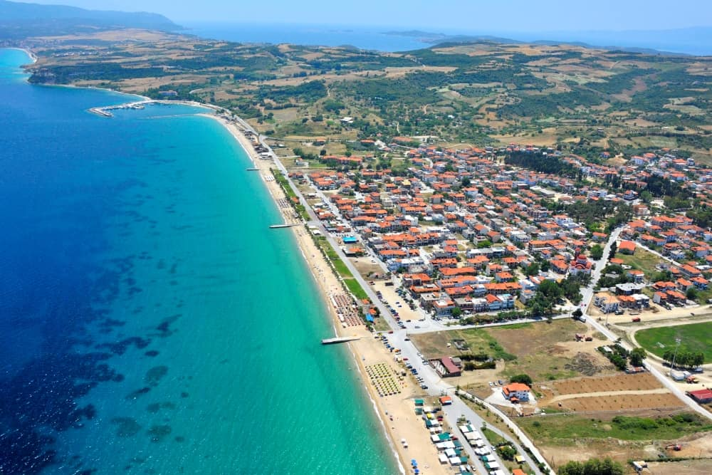 Airphoto of Ierissos village