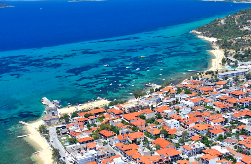 Ouranoupoli village from the air