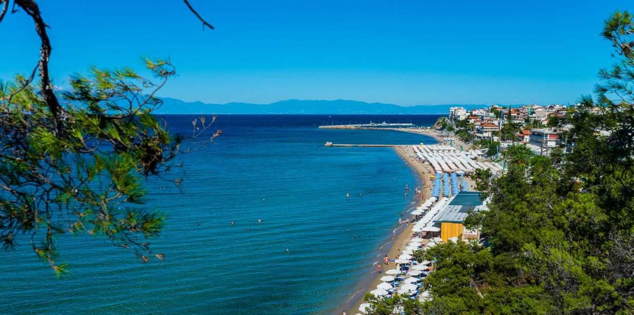 Nea Kallikratia beach overview