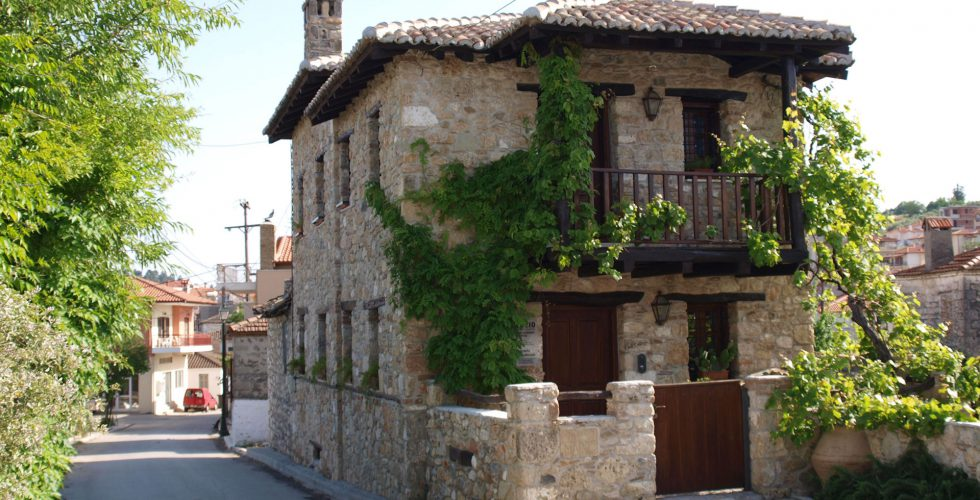 Traditional house at Paliouri village