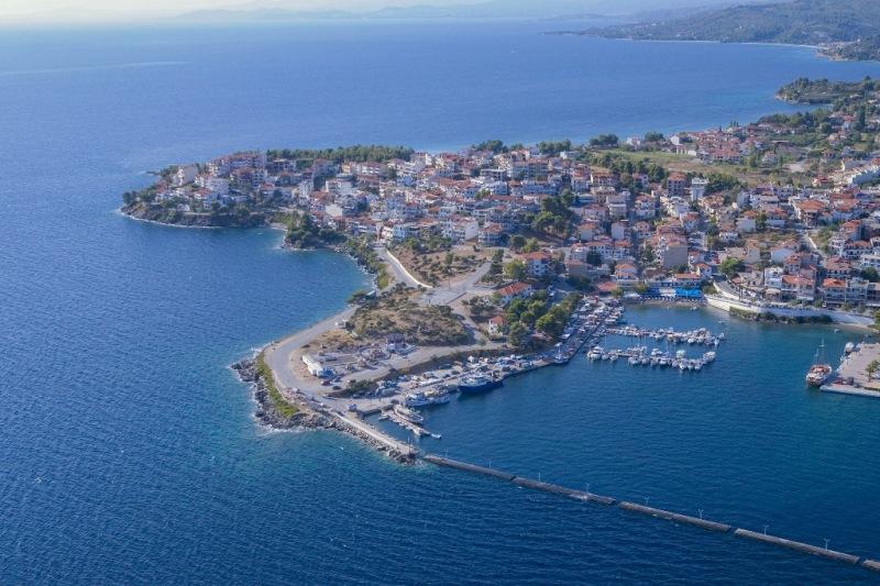 Marina of Neos Marmaras airphoto