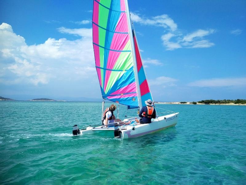 Sailing with a catamaran
