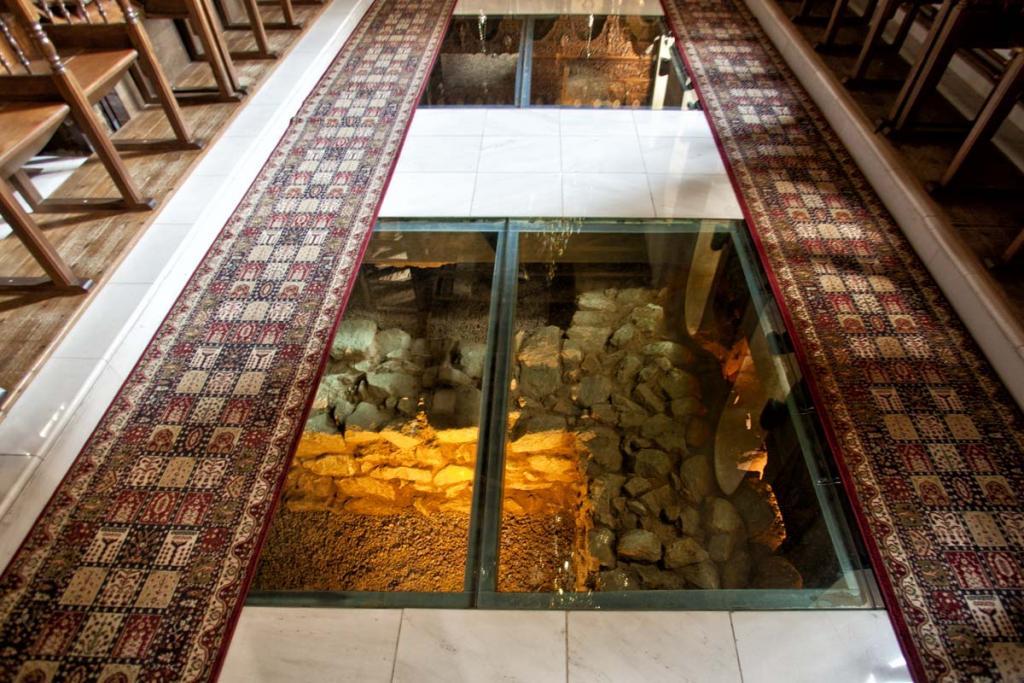 Saint Stefen's church glass floor