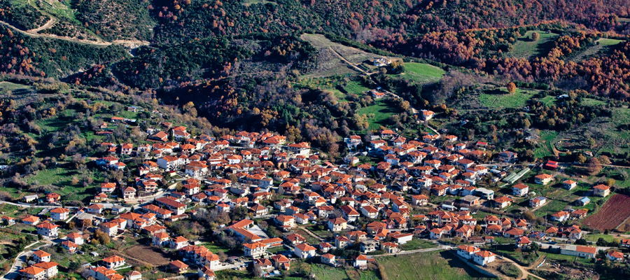 Aerial view of Stanos village
