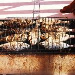 Fish BBQ on board