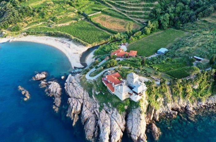 Mylopotamos winery at Mount Athos