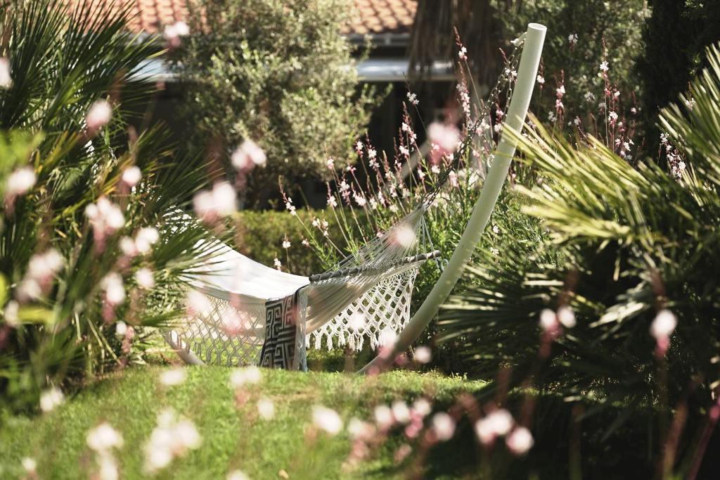 Ηammock at the gardens of Ekies resort