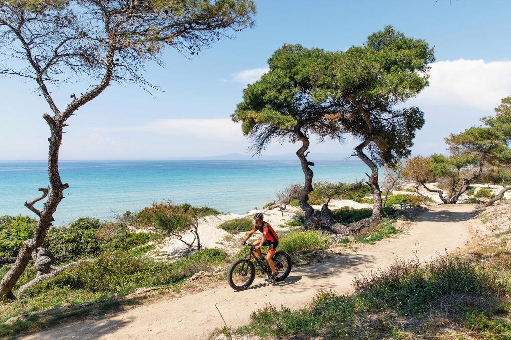 Cycling at Sani resort