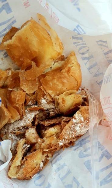 A Greek delicacy: bougatsa for breakfast